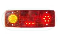 Lampa zespolona tylna lewa, 12V-24V + przewody 200cm YLY-S 4x0,75mm2, diody