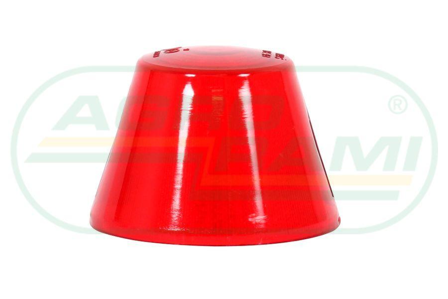 Klosz lampy czerwony wysoki