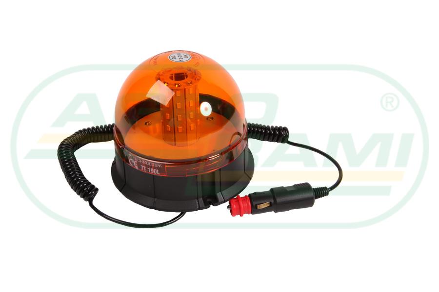 Lampa ostrzegawcza LED 12-24V FI-140/135WYS.