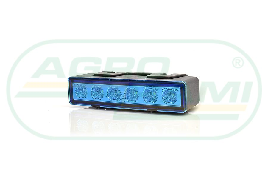 Lampa ostrzegawcza LED klosz niebieski
