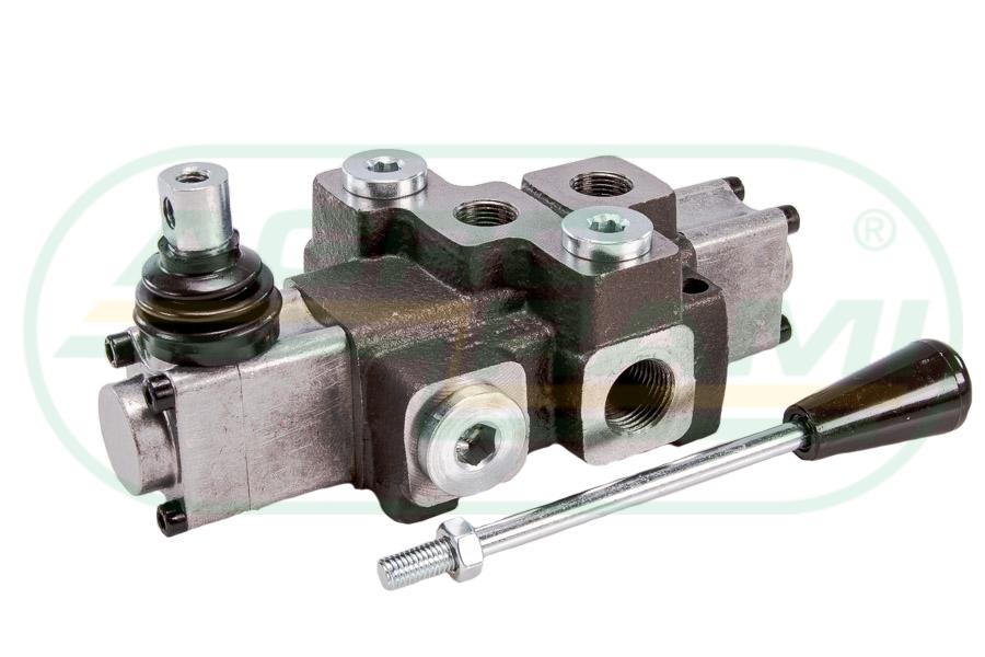 Rozdzielacz hydrauliczny 1-sekcyjny max przepływ 40L z zatrzaskiem