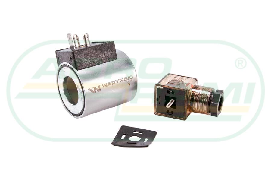 Cewka dzielnika elektrozaworu W-E38DVS6/2, W-E12DVS6/2 12V DC 30W Waryński