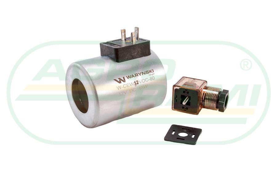 Cewka dzielnika elektrozaworu W-E12DVS6/2-80L, W-E12DVS3/2-80L 12V DC 48W