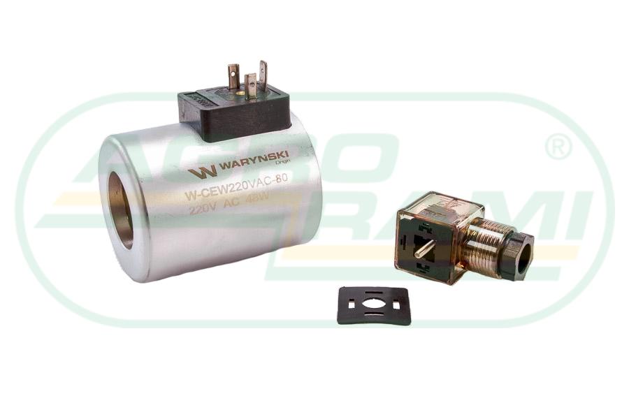 Cewka dzielnika elektrozaworu W-E12DVS6/2-80L, W-E12DVS3/2-80L 220V AC 48W