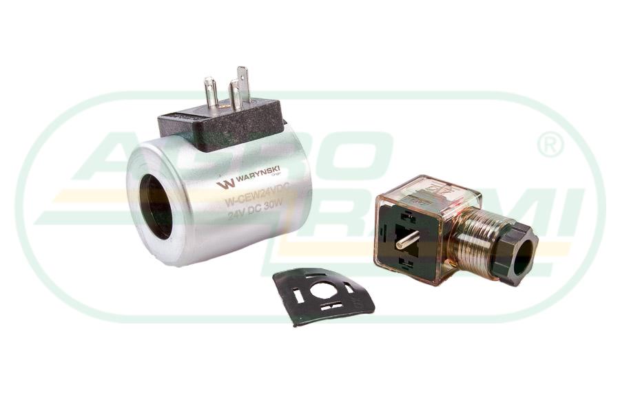 Cewka dzielnika elektrozaworu W-E38DVS6/2, W-E12DVS6/2 24V DC 30W