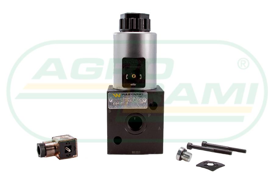 """Elektrozawór 3-drogowy elektromagnetyczny kontroli 3/2 W-E12DVS3/2-80L G1/2"""" 80L (24V DC)"""