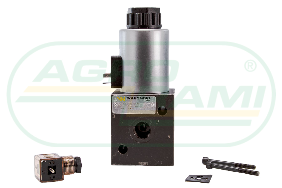 """Elektrozawór 3-drogowy elektromagnetyczny kontroli 3/2 W-E12DVS3/2-80L G1/2"""" 12V 80L"""