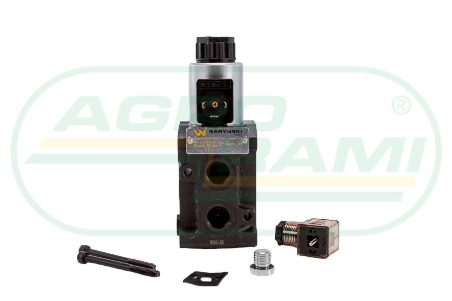 """Dzielnik, zawór, elektrozawór kierunkowy elektromagnetyczny kontroli W-E12DVS6/2 (DVS6/50L) G1/2"""" 50L (24V DC)"""