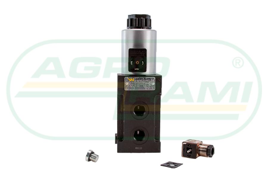"""Dzielnik, zawór, elektrozawór kierunkowy elektromagnetyczny kontroli W-E12DVS6/2-80L G1/2"""" 12V 80L"""